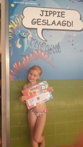 Britt heeft haar B diploma gehaald!
