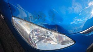 Deuk in mijn auto (gelukkig niet mijn fout)...